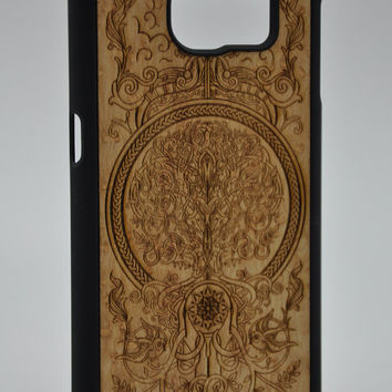 The Tree of Life from Birdseye Maple-Samsung Galaxy S6 / S6 Edge Wood Cover - Unique wood case - FREE WORLDWIDE SHIPPING!Handmade in Europe!