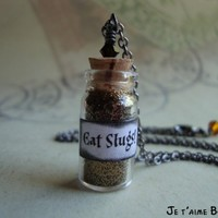 EAT SLUGS - Harry Potter Inspired Vial Necklace with swarovski | JetaimeBoutique - Jewelry on ArtFire