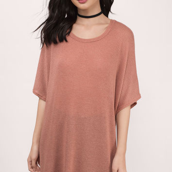 Up The Coast Dolman Tunic Top
