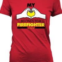 Funny Firefighter Shirt Gifts For Her Couple T Shirt Relationship Romance Joke Ladies Tee MD-52B