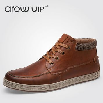 arow VIP Brand Fashion Genuine Leather Casual Shoes, High Quality Leather Men Shoes, Designer Casual Shoes For Men