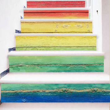 Hot Sale New Design DIY Steps Sticker Removable Stair Sticker Home Decor Ceramic Tiles Patterns