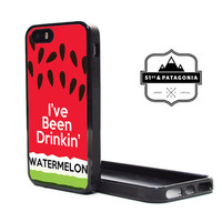 Custom Apple iPhone 5C or 5S 5 Fitted Phone Case Cover Cute Watermelon Beyonce Song Quote Funny Inspired Design