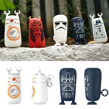 1 PCS High Quality 3D Coffee Mug Double Wall Milk Mug Star Wars Darth Vader and White Knight Glass Star Wars Mug Gift For Kids