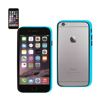 New Bumper Case With Tempered Glass Screen Protector In Blue For iPhone 6