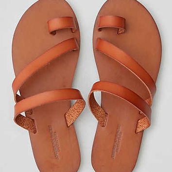 AEO Toe Ring Slide Sandal , Tan
