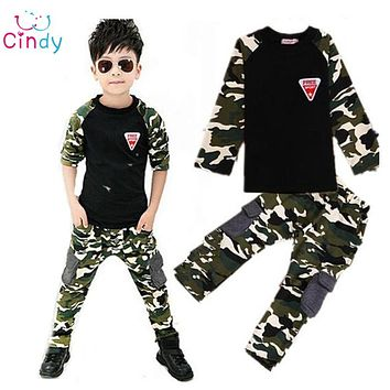 New Camouflage Kids Clothing Set for Boys&Girls Cotton Boys Sports Set Girls kids clothes