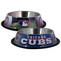 Chicago Cubs Stainless Dog Bowl
