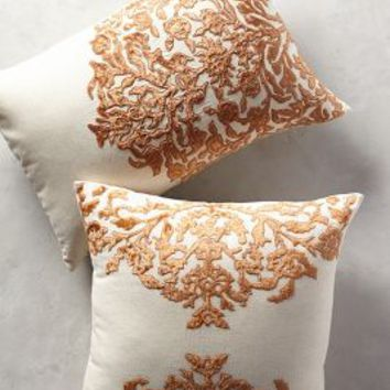 Vining Velvet Pillow by Anthropologie