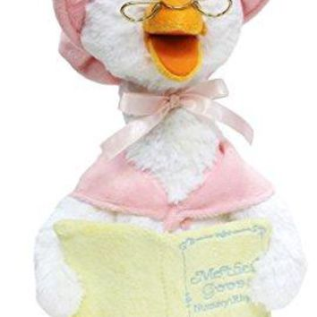 """Cuddle Barn® Mother Goose Animated Talking Musical Plush Toy, 14"""" Super Soft Cuddly Stuffed Animal Moves and Talks, Captivates Listeners by Reading 7 Classic Nursery Rhymes – Pink"""