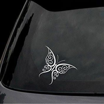Tribal Butterfly Tattoo Decal Sticker - JDM Car Truck Window Laptop Suitcase Wall Home Decor
