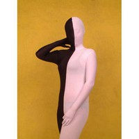 Catsuits & Zentai Lycra Spandex Black And White Full Body Zentai Suit [TOQ110915002] - $36.99