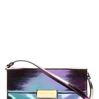 Stella Mccartney Purple And Green Iridescent Oleo Prisma Shoulder Bag