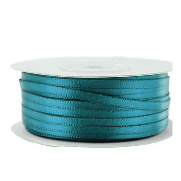 Double Faced Satin Ribbon, 1/8-inch, 100-yard, Antique Blue