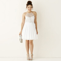 Be Smart Sleeveless Embellished Halter Party Dress - JCPenney