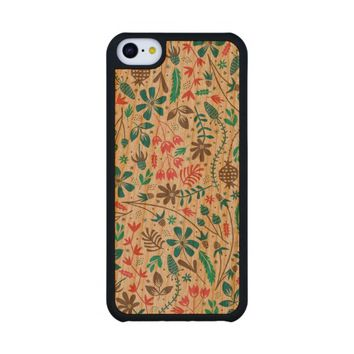 Retro Floral Pattern Carved® Cherry iPhone 5C Case