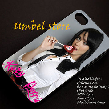 Katy Perry Lollipop Hot For iPhone 4/4S/5/5S/5C, Samsung Galaxy S3/S4, iPod Touch 4/5, htc One X/x+/S Case