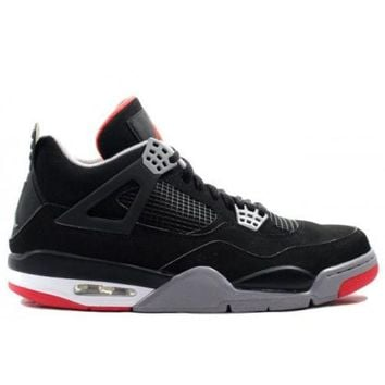 ONETOW Beauty Ticks 308497-089 Nike Air Retro Jordan Bred 4s Cdp 2012 Black Cement Grey Fire Red