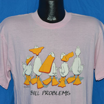 90s Ducks Bill Problems Funny Pink t-shirt Large