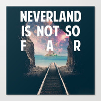 Take Me To Neverland Canvas Print by Christa Morgan ☽