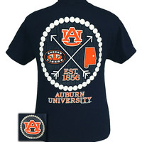 Auburn Tigers War Eagle Preppy Arrow Pearls Bright T-Shirt