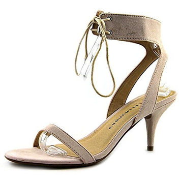 Chinese Laundry Womens Ravish Micro Suede Front Tie Strap Sandals