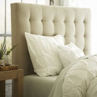 Tall Grid Tufted Headboard