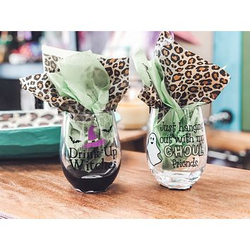 Halloween Wine Glasses (other colors)