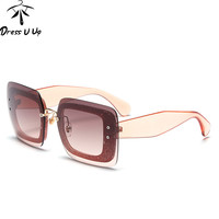 DRESSUUP 2016 New Cat Eye Sunglasses Women Brand Designer Square Big Frame Vintage Sun Glasses Oculos De Sol Feminino UV400