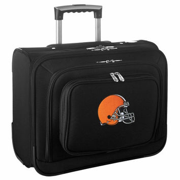 Cleveland Browns Carry-On Rolling Laptop Bag - Black - http://www.shareasale.com/m-pr.cfm?merchantID=7124&userID=1042934&productID=540322698 / Cleveland Browns