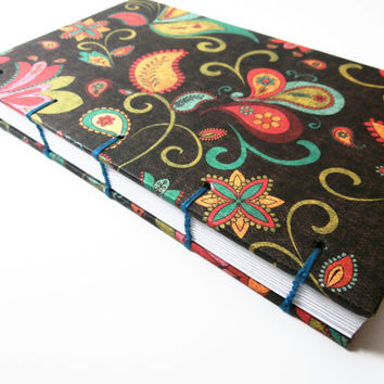 Writing Journal | Personal Diary | Travel Journal | Blank Book | Coptic Journal | Gift for Writer | Hand Made Journal | Unlined | Pretty