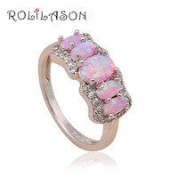 Free Shipping Super supplier fashion women jewelry Light Blue fire Opal 925 Silver Rings USA size #5.5 #6.5 #7.5 OR344