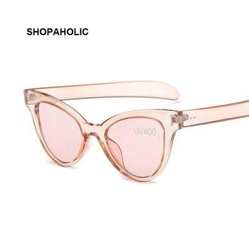 Transparent Cat Eye Sunglasses for Women Brand Designer Vintage Cateye Sun Glasses Female Oculos De Sol Feminino Sunglase