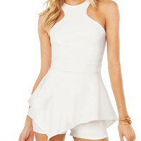 Halter Cut-Out Peplum Romper