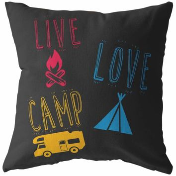 Camping Pillows Live Love Camp