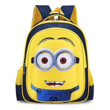 Minions Children's Backpack Children Primary Students Bag Boys Animation Cartoon School Bags For Boys Girls mochila escolar