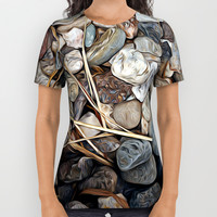 Pebbles All Over Print Shirt by Stephen Linhart