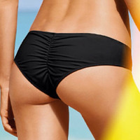 Black OR White Brazilian Bikini Bottoms with Scrunch