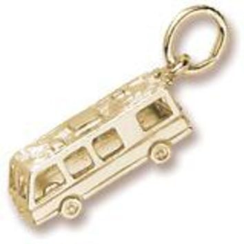 Motor Home Charm in Yellow Gold Plated