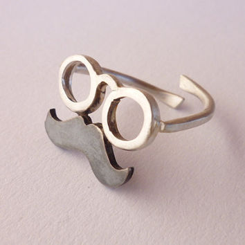 Ring mustache by thinkupjewel on Etsy