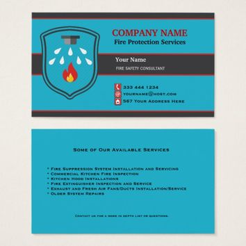 Fire Protection Shield Business Card 2