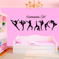 Wall Decal Vinyl Sticker Decals Art Decor Design  Ballerina Gymnastics Girl Sign Ballet Dancer Acrobatics Sport  Bedroom Living Room (r998)