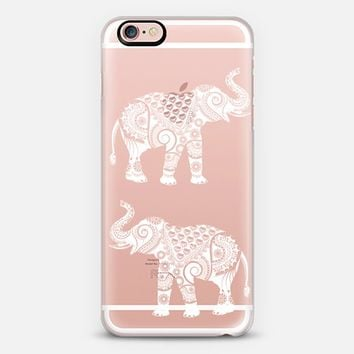 White Ornate Elephant iPhone 6s case by Famenxt | Casetify