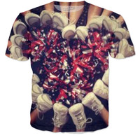 Cheerleading heart