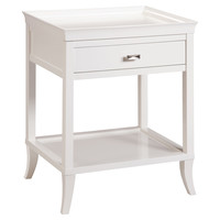 Celia Side Table, White, Standard Side Tables