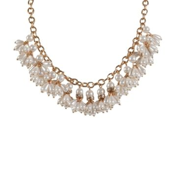 Stony Jewelry Shaky Pearl Frontal Necklace at Von Maur