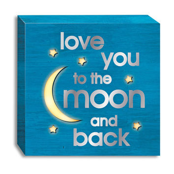 I LOVE YOU TO THE MOON LIGHT UP SIGN