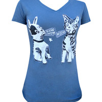 Bow Wow Meow Womens VNeck Tee