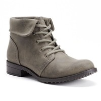 SONOMA life + style Women's Foldover Combat Boots (Grey)