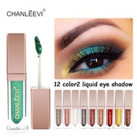 New Brand Makeup Waterproof Liquid Eyeshadow Glitter White Gold Red Color Pigments Shimmer Eye Shadow Stick Cosmetics